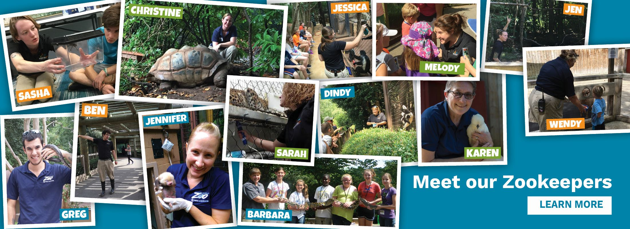 Photos of Greenville Zoo Zookeepers: Click to learn more about them